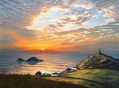 Cape Cornwall another by  Sarah Vivian