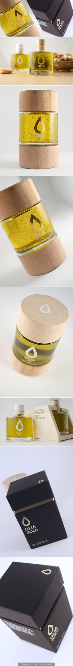 OLIA Olive Oil packaging | looks luxurious like a bottle of perfume
