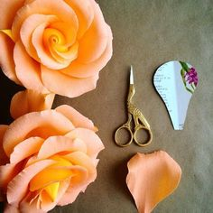 Building a bouquet of paper roses. #paperflowers