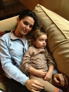 Angie Harmon with their daughter