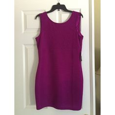 Forever 21 Neon Purple Dress This dress is a steal! Beautiful color and has never been worn. Only thing is that it will need a new zipper; which is why it is priced to sell. Forever 21 Dresses