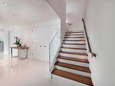 #miami #minimalist #squarerecessedlights #stairlights #stairs #walllights #walnuihandrail #walnutstairs #whitestairs #woodenstairs