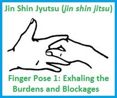 Finger Pose #1: ExhalingBurdens/Blockages..  Begin by placing the thumb on the palm of the opposite hand - at the base of the middle finger - then wrap the fingers around the middle finger.  Hold for either 3 complete breaths or several minutes at a time. balancedwomensblog.com