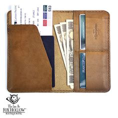All in one wallet for money, passport and ID