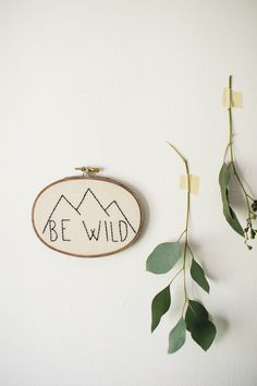 ▲ Hand Stitched Embroidery Art▲ Liven your space with this floral inspired embroidery hoop art. HOOP DETAILS ▲ Your embroidery hoop is handmade in Louisville, KY. It is stitched on 100% cotton fabric