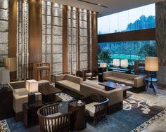 司狐祭采集到参考图(1927图)_花瓣 Hotel Lounge, Lobby Design, Outdoor Furniture Sets, Outdoor Decor, Hotel Lobby, Hospitality Design, Furniture Layout, Interior And Exterior, Living Room