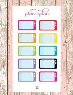 301~~10 TV Television Show Tracker Planner Stickers. by PlanToPlan on Etsy