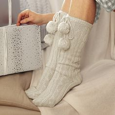 The White Company Cable Knit Socks - I want a pair