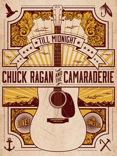 Poster for Chuck Ragan & the Camaraderie