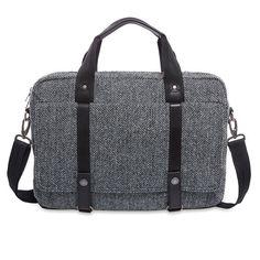 5f055139bd City Premium Harris Tweed® Fabric Briefcase Harris Tweed Fabric
