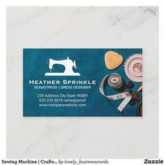Sewing Machine   Crafts Workshop Business Card