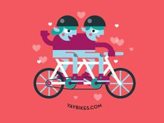 Yay Bikes Illustration - love the colors!