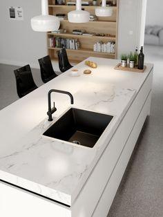- Lilly is Love Simple Kitchen Design, Kitchen Room Design, Luxury Kitchen Design, Home Decor Kitchen, Kitchen Interior, Home Kitchens, Handleless Kitchen, Minimalist Kitchen, Küchen Design