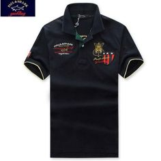 polo ralph lauren outlet uk Paul \u0026 Shark Men\u0027s Polo Shirt Black Yellow  Pique http: