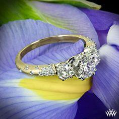 """Petite Champagne"" Diamond Engagement Ring _$2420_http://www.whiteflash.com/engagement-rings/three-stone/3-stone-petite-champagne-diamond-engagement-ring-576.htm"