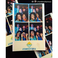 White Label Booth, totally customisable, beautiful photo's with social media content generating photo booth that takes up no space at all!  #Repost @cherellewilliamsxo ・・・ #TomFest2016 #polaroids