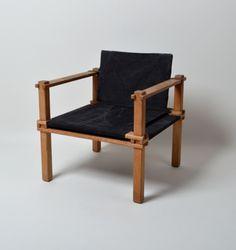 Gerd Lange; Ash Frame 'Farmer' Chair by  Gebr Stoll, 1966.