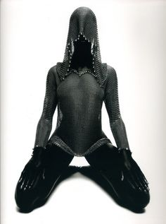 Chainmail mesh hoodie | Macabre | goth | dark fashion | high end | editorial | obscur