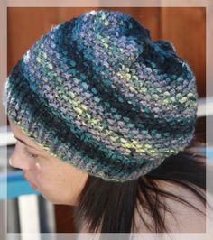 Hand Knit Beanie Waffle Girly Design  Ribbed by LilRedKnittingHood