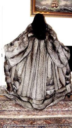Renard argenté L-XL Renard Silver Fox Volpe renardfuchsmantel manteau de fourrure fourrure