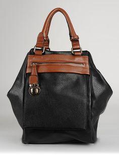 Just Cruising Convertible Backpack Purse Black/Brown