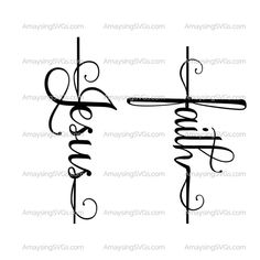 Your platform for buying and selling handmade items - Faith svg Jesus svg are perfect for Christian tshirts, banners, cards, stickers and much more. Body Art Tattoos, Small Tattoos, Faith Cross Tattoos, Word Tattoos, Small Cross Tattoos, Tatoos, Music Tattoos, Feminine Cross Tattoos, Have Faith Tattoo