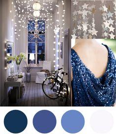 Christmas Colour Palette - Indigo Blue & White - Polka Dot Bride