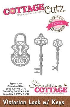CottageCutz Victorian Lock w/ Keys (Elites)