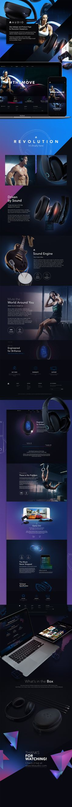 66AUDIO Site & Revolution Product Page Design  https://www.behance.net/gallery/37357861/66AUDIO-Site-Revolution-Product-Page-Design
