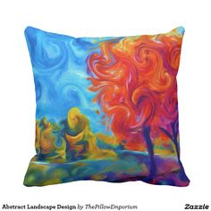 Abstract Landscape Design Throw Pillow