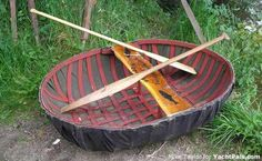 a beautiful coracle... apparently these are primitive welsh boats. Who need a kayak? I'm welsh. I need one of these!