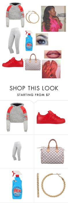 """""""Untitled #452"""" by diamond-krys ❤ liked on Polyvore featuring adidas Originals, adidas, Lumière, Louis Vuitton, Moschino and Juicy Couture"""