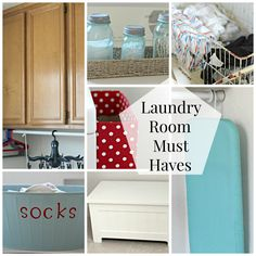 Laundry Room Essentials - Organize and Decorate Everything