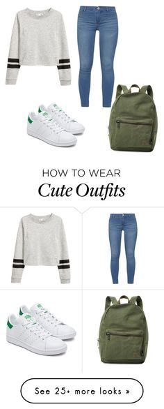 """""""I love this because you can get away with a lazy day outfit but it look super cute"""" by natalie-ksattler on Polyvore featuring Dorothy Perkins and Herschel Supply Co."""