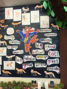 Forest classroom (Fantastic Mr Fox's Forest Topic) Fantastic Mr Fox Quotes, Fantastic Fox, Class Displays, Classroom Displays, Roald Dahl Activities, Roald Dahl Day, Art For Kids, Crafts For Kids, Teaching Humor