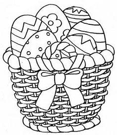 Pâques  : les oeufs dans le panier