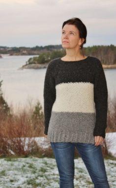 Garnpakke fra min-design-strikk til genser i perlestrikk, i DROPS Cloud www.min-design-strikk.no