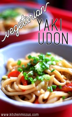 Vegetarian Yaki Udon Easy option for a quick and oiishi lunch! #kitchenmissus