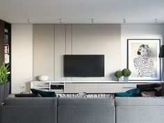 Minimalist Living Room Design Ideas For A Stunning Modern Home. Find and save ideas about Minimalist living rooms in this article. Small House Interior Design, Apartment Living Room Design, Living Room Decor Apartment, Apartment Living Room, Apartment Decor, Home Interior Design, Living Room Tv, Modern Apartment Living Room, One Bedroom Apartment