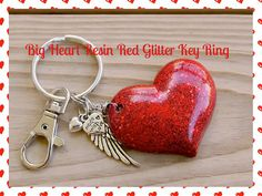 My HEART Beats 4U Blood Red Holographic Glitter by tranquilityy, $11.00