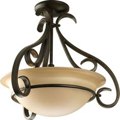 Add a touch of sophistication and elegance to your home with this Progress Lighting Torino Collection Light Forged Bronze Semi-Flush Mount. Ceiling Fixtures, Light Fixtures, Ceiling Lights, Ceiling Fans, Ceiling Hanging, Flush Mount Lighting, Flush Mount Ceiling, 3 Light Pendant, Pendant Lighting