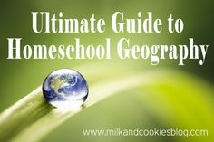 HUGE list of geography resources for homeschoolers {and teachers alike!}.