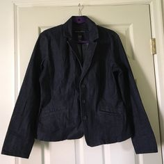 New York & Company Jean Jacket New York & Company Jean Jacket in good condition, slightly wrinkled, great for a casual yet professional look New York & Company Jackets & Coats Jean Jackets