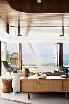 This Australian Beach House Will Make You Cry And swinging in a cocooning egg chair over the ocean.