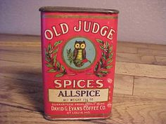 Old Judge Spice Tin with Owl