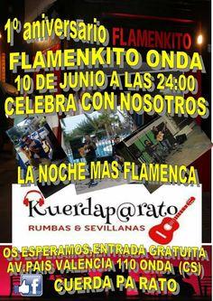 El triángulo » Flamenkito Onda celebra este sábado 10 de junio su primer aniverario, tras el éxito de la noche latina http://www.eltriangulo.es/contenidos/?p=68681