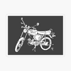 simson s51 sketch von Libelle36   Redbubble Vinyl Decals, Stickers, Retro, Flasks, Laptops, Kiss, Prints, Sketch, Gray