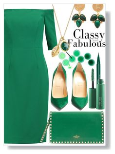 """""""Classy and Fabulous"""" by aleks-g ❤ liked on Polyvore featuring Milly, Stila, MAC Cosmetics, Carousel Jewels, Christian Louboutin, Valentino, Ottoman Hands, classy, fabulous and contestentry"""