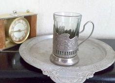 Vintage Soviet Melchior Glass Holder by VilgasTreasures on Etsy
