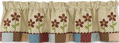 Flower Box Lined Curtain Valance